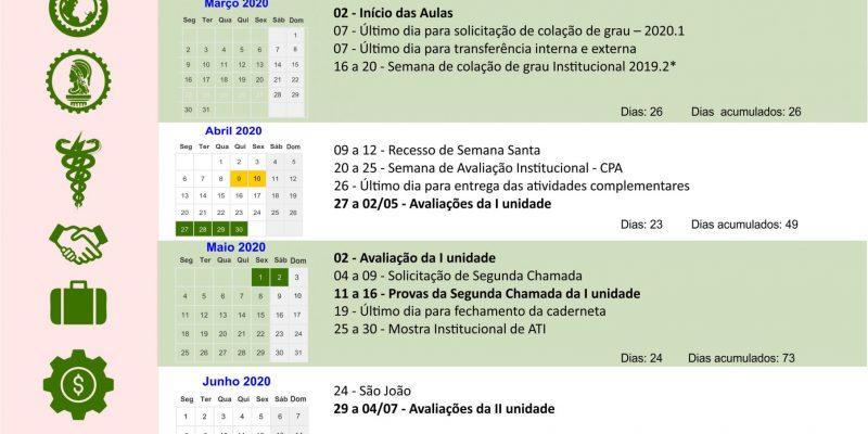 Calendário Acadêmico 2020.1